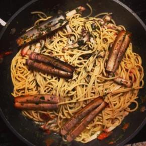 Mes spaghettis aux couteaux