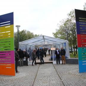 Inauguration d'une oeuvre participative à Molenbeek