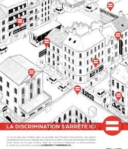 La discrimination s'arrête ici, le respect commence ici !